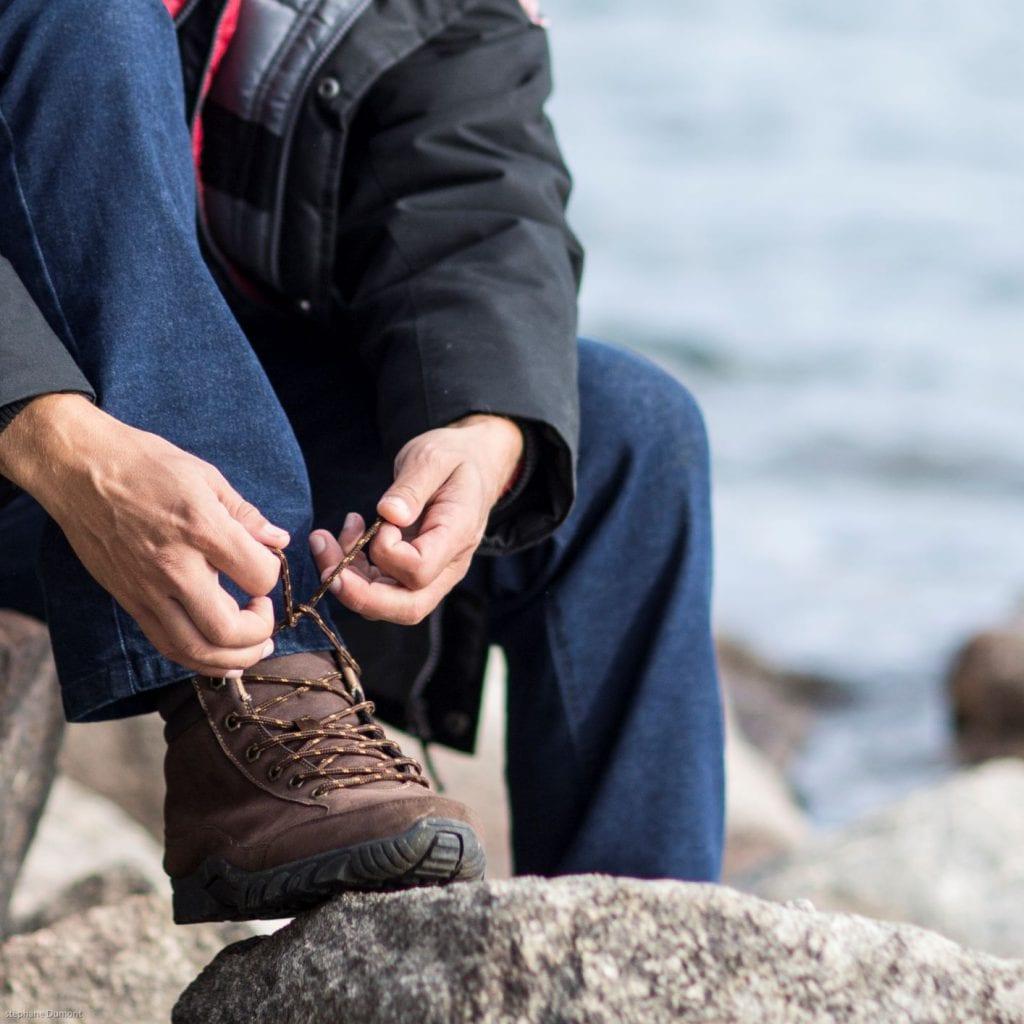 Tester ses chaussures de randonnée