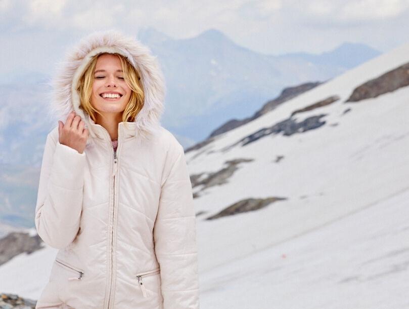 capuche doudoune femme hiver
