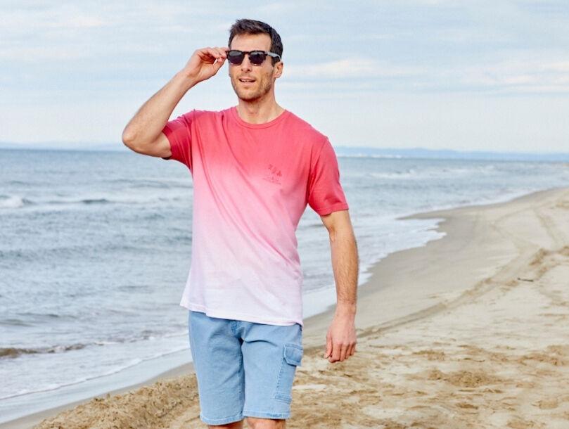 look sportwear estilval tee shirt bermuda plage