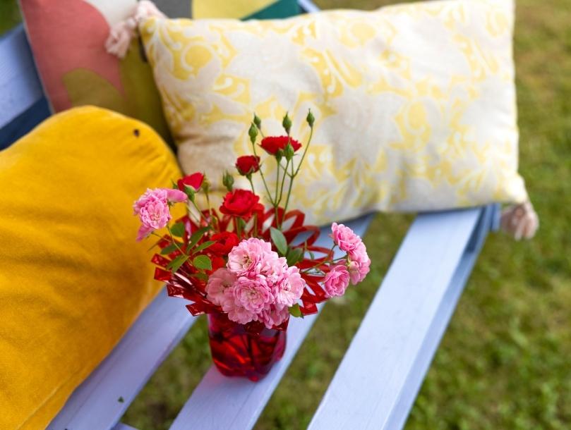 vase bouteille fleurs