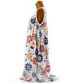 Robe été bohème - MARGUERITE - blanc preview4