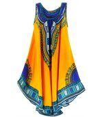 Robe  asymétrique bohème - INCAS -jaune preview1