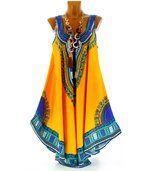 Robe  asymétrique bohème - INCAS -jaune preview2