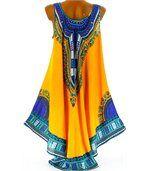 Robe  asymétrique bohème - INCAS -jaune preview5