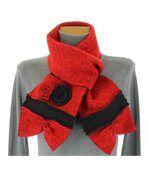 écharpe longue laine bouillie rouge ALBERT preview2