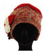 Bonnet femme hiver laine MATHIEU rouge preview3