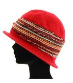 chapeau cloche laine bouillie ACHILLE rouge preview4