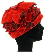 Bonnet femme hiver laine ARNOLD rouge preview2