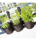 Triple jardinière suspendue en PVC pour balcon preview1