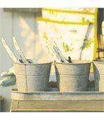 Set 3 pots de fleur en zinc preview1