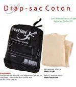 Drap coton intérieur protection sac de couchage preview2