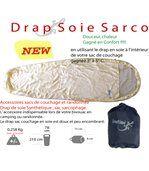 Drap d'appoint en soie pour sac de couchage preview2
