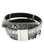 Bracelet de Femme Cuir Gris Incrusté DAPHNEE 10 preview2
