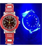 Montre pour Femme Lumineuse Silicone Rouge 2124 preview3