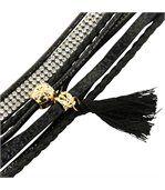 Bracelet Femme Cuir Couleur Noir Incrusté DAPHNEE 1142 preview1