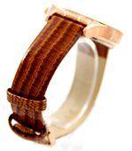 Montre femme en cuir marron dorée leina 935 preview2