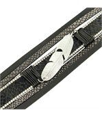 Bracelet Femme Cuir Gris Tendance Incrusté DAPHNEE 1216 preview1
