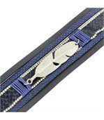 Bracelet Femme Cuir Bleu Fun Incrusté DAPHNEE 1217 preview1