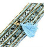 Bracelet Tendance Femme Cuir Bleu Incrusté DAPHNEE 1140 preview1