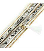 Bracelet de Femme Cuir Gris Incrusté DAPHNEE 1128 preview1
