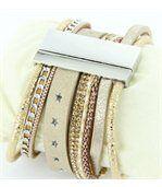Montre Femme Cuir Beige avec Diamants Cz HIPPIE 1542 preview2