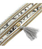 Bracelet pour Femme Cuir Gris Incrusté DAPHNEE 1132 preview1