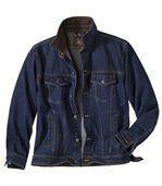 Куртка из Денима с Вельветовым Воротником preview2