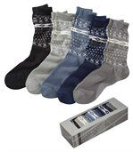 Lot de 5 Paires de Chaussettes Jacquard  preview1