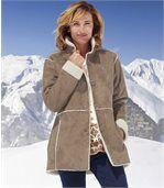 Пальто из Замши и Шерпы preview2
