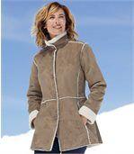 Пальто из Замши и Шерпы preview3