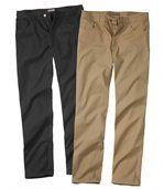 Lot de 2 Pantalons 1_camel plus 1_noir preview1
