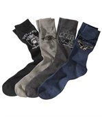 Lot de 4 Paires de Chaussettes West preview1