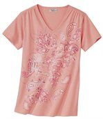 Tee-Shirt Motif Cachemire Pailleté preview2