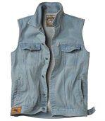 De mouwloze Denim West jas preview2