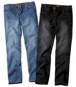 1 BLAUWE spijkerbroek +1 ZWAR TE spijkerbroekvoor een ONVERSLAANBARE PRIJS! preview1