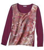 Tee-shirt Floral Bi-Matière preview2