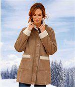 Замшевое Пальто с Подкладкой из Шерпы
