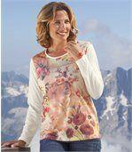 Блуза с Цветочным Принтом preview1