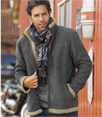 Замшевая Куртка с Подкладкой из Шерпы preview2
