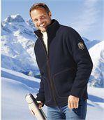Куртка из Флиса с Подкладкой из Шерпы