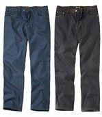 1 jeans Bleu plus 1 jeans Noir preview1