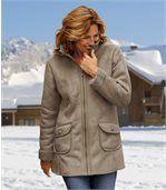 Замшевое Пальто с Подкладкой из Шерпы preview1