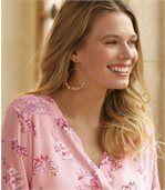 Блуза из Муслина с Цветочным Принтом preview3
