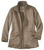 Замшевое Пальто с Подкладкой из Шерпы preview2