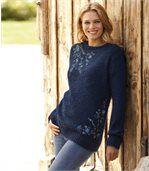 вязаный свитер с вышивкой женщинам Atlas For Women 2499