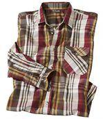 Geruit overhemd van poplin preview2