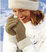 Перчатки из Флиса с Отделкой Мехом preview2