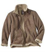 Замшевая Куртка с Подкладкой из Шерпы preview3