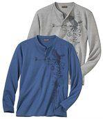 Комплект футболок с длинными рукавами - 2 шт. preview1