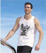 Set van 2 mouwloze shirts 'Best Beach' preview2